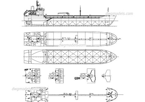 ship dwg tanker ship free cad file autocad drawings download dwg