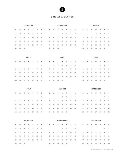 yearly wall calendar planner template 2017 stock vector 605413868