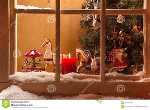 atmospheric window sill decoration snow tre e
