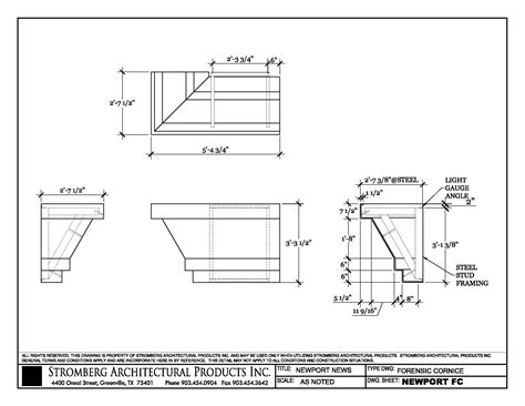 Parapet Cornice newport news in newport news vacad files dwg and pdf
