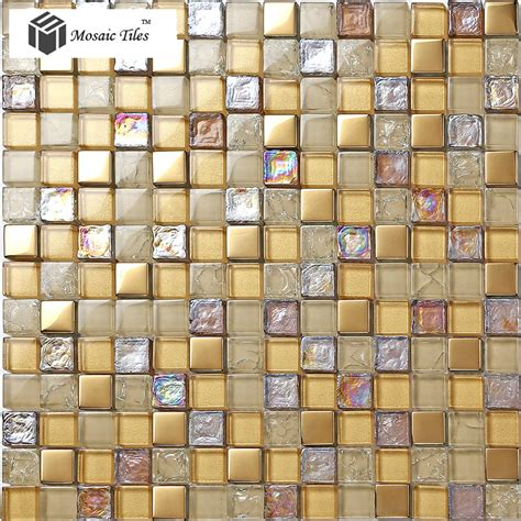 Glass Bathroom Tiles Ideas tst crystal glass mosaic tile iridescent golden glass tile