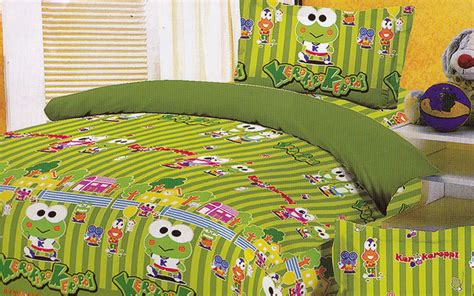 Bed Cover Sprei Keroppi 120x200 jual sprei keroppi at school spreishop spreishop