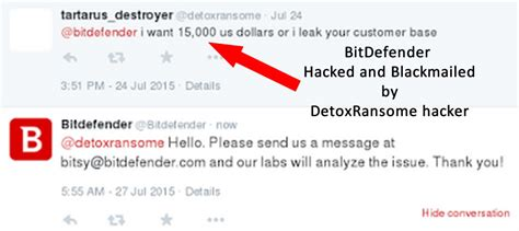 Detox The Hacker detox ransome the hacker which hacked bitdefender and