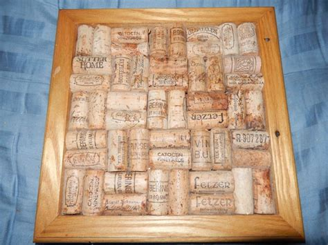 Decorative Cork Boards For Home by Wine Cork Corkboard Bulletin Board Wall Message Holder