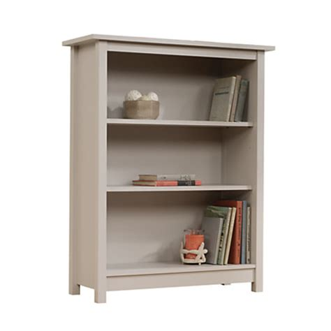 Sauder 4 Shelf Bookcase Sauder Cottage 3 Shelf Bookcase 44 H X 35 14 W X 13 12 D Cobblestone Gray By Office Depot