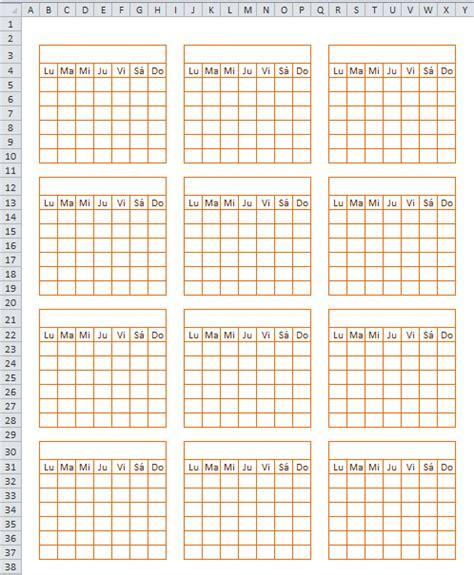 Calendario Anual Excel Pr 225 Ctico Para Todos Calendario Anual