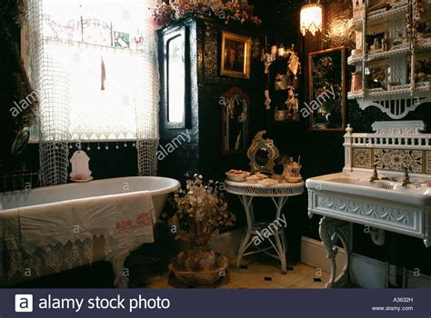 bathroom victorian style black white victorian bathroom wallpaper joy studio