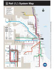 Chicago Subway Map From O Hare Airport by L Train Map My Blog