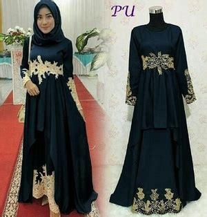 Gamis Wanita Warna Hitam Setelan Baju Gamis Muslimah Pesta Wanita Model