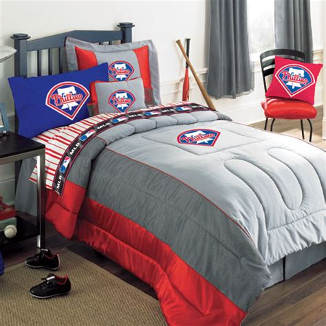 Philadelphia Phillies Mlb Authentic Team Jersey Bedding Baseball Bedding Set