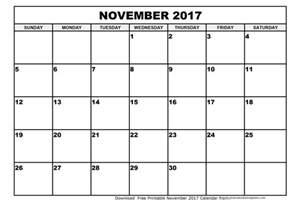 December Calendar Templates by November 2017 Printable Calendar Printable Calendar