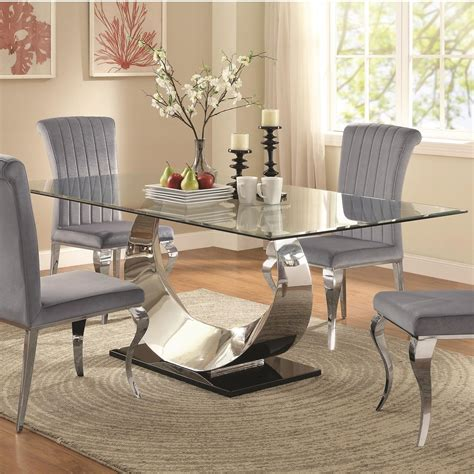 coaster glass dining table coaster manessier contemporary glass dining table value