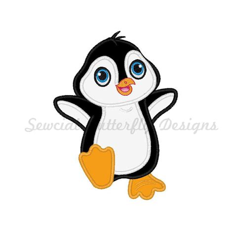 penguin applique penguin applique machine embroidery design 3 by