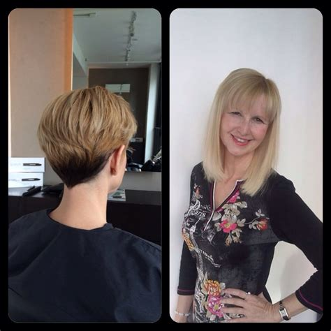 haircut before extensions great lengths before and after pixie cut to mid length