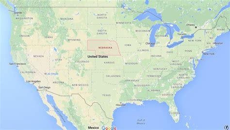 map usa nebraska where is nebraska on map usa world easy guides