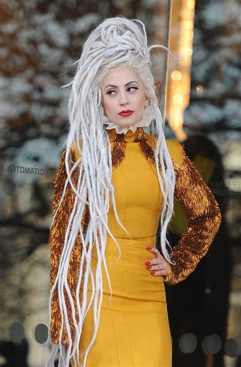 pics of older women in dreads lady gaga flaunts her new knee length dreadlocks in orange
