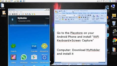 show android screen on pc how to show android phone screen on computer mymobiler usb wifi no root
