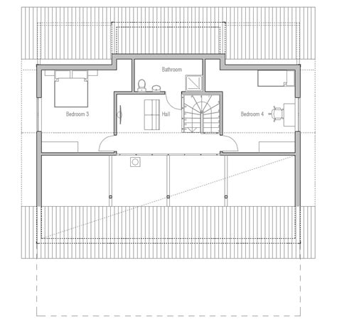 nordic house plans affordable home ch7 with big windows to narrow lot house plan