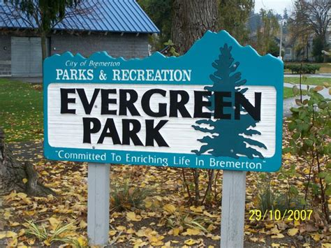 evergreen park relocation out about bremerton wa area attractions evergreen rotary park