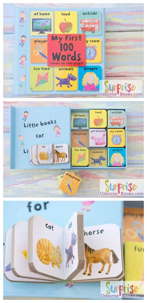 Animals Chunky Board Books Set 9 In 1 Steps my 100 words chunky board book set usborne books