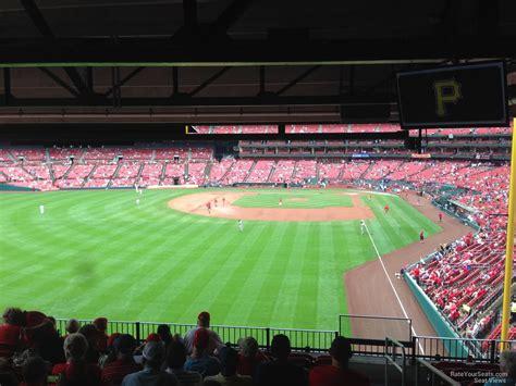 section 128 busch stadium field level outfield busch stadium baseball seating