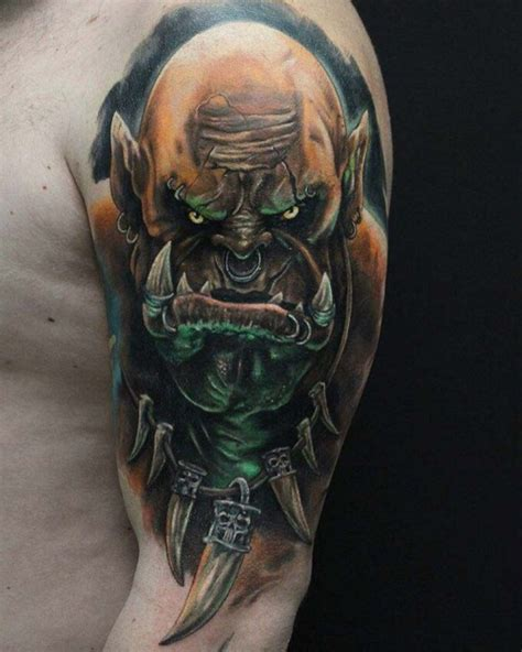 orc tattoo on shoulder best tattoo ideas gallery