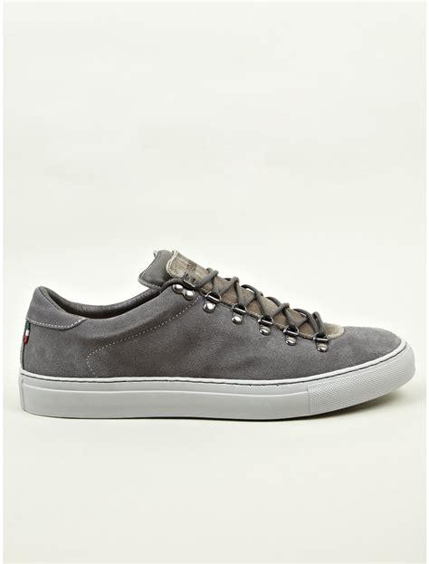 diemme sneakers diemme mens grey marostica suede low sneakers in gray for