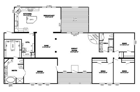 triple wide mobile home floor plans triple wide manufactured homes floor plans home