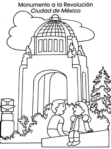 imagenes de la revolucion mexicana para niños faciles colorea tus dibujos monumento a la revoluci 243 n ciudad de
