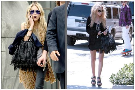 Kate Olsens Prada Napa Fringe Hobo by Prada Bags Forever 22 Who Prada