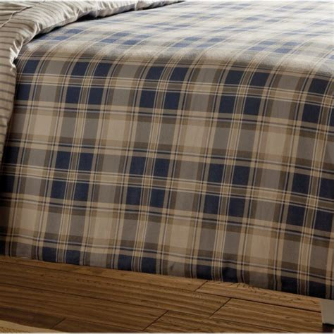 design port winton tartan plaid brushed cotton duvet cover catherine lansfield tartan navy check brushed cotton bedding collection