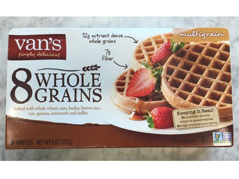 vans 8 whole grains waffles healthy frozen waffles cooking light