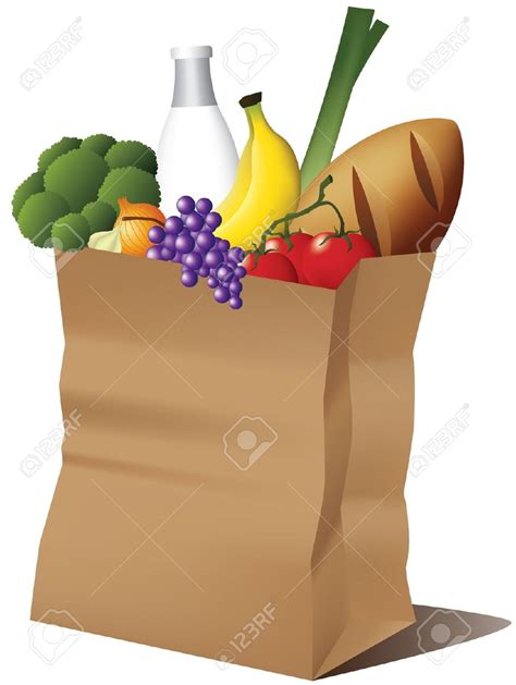 grocery bag clipart grocery bag clipart