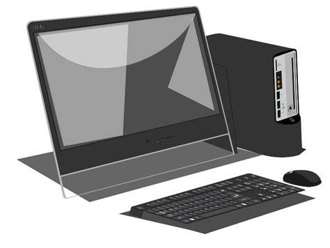 clipart pc computer monitor and keyboard clip clipart panda