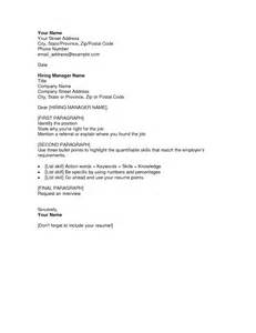 simple cover letters for resume free cover letter sles for resumes sle resumes