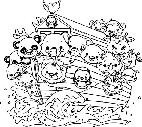coloring book pages of noah s ark noah s ark coloring page 7408