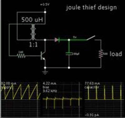 adding capacitor to joule thief solar cell joule thief and capacitor