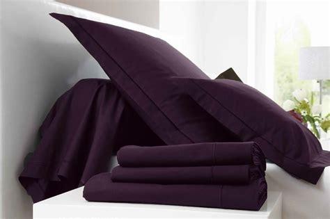 parure de lit 2 places 4 pi 232 ces 100 coton violet