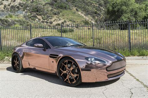 rose gold car rose gold vantage