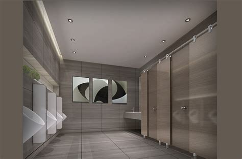 Public Bathroom Design | 3d design of public restroom