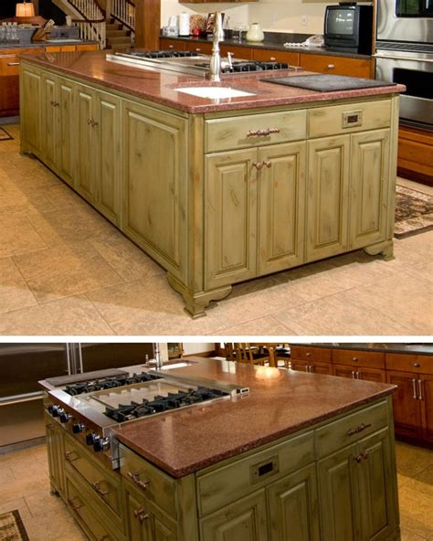 kitchen work islands this kitchen island is a work station provides storage the owner chose a contrasting