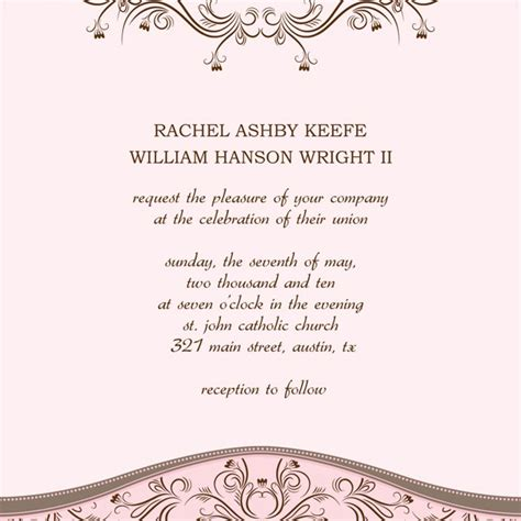 invitation word template wedding invitation templates microsoft word diabetesmang info