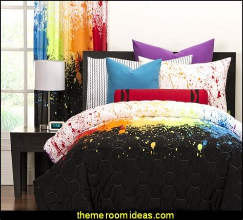 splatter paint bedroom decorating theme bedrooms maries manor splatter paint