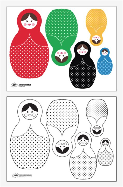 Russian Nesting Dolls Template by Free Printable Russian Nesting Dolls Paging Supermom
