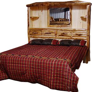 How To Make A Log Bed Headboard by Headboards Rustic Log