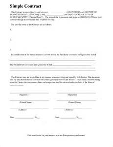 simple contract agreement template 4 simple contract templatereport template document