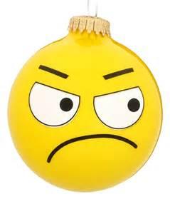 bah humbug emoji face personalized ornament