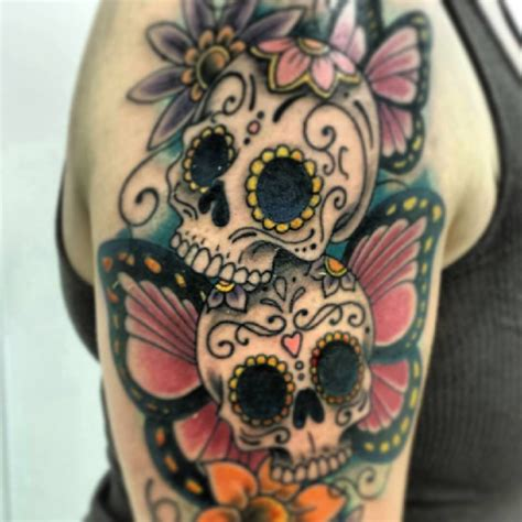 candy skulls tattoos pin by kristine sanders on sugar skulls