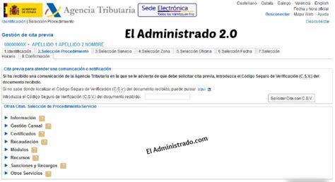 cita para hacienda por internet 2016 agencia tributaria es cita previa 2015