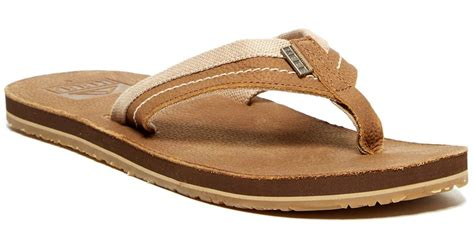 Jones Fish Sandals At Begdorf by Lyst Reef Jones Flip Flop In Brown For